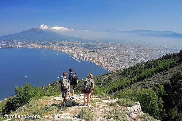 Der Vesuv Vulkan Bei Neapel